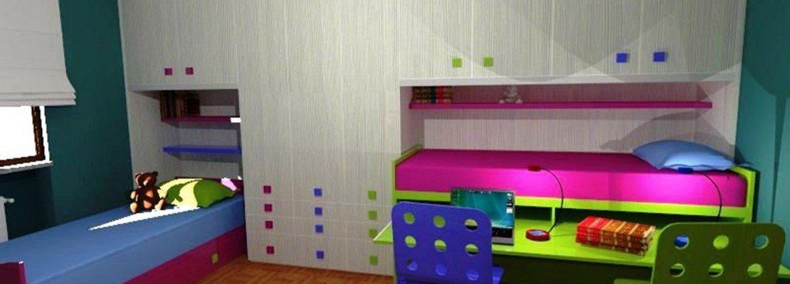 In cameretta sfruttare bene lo spazio. per tre ragazzi   cose di casa