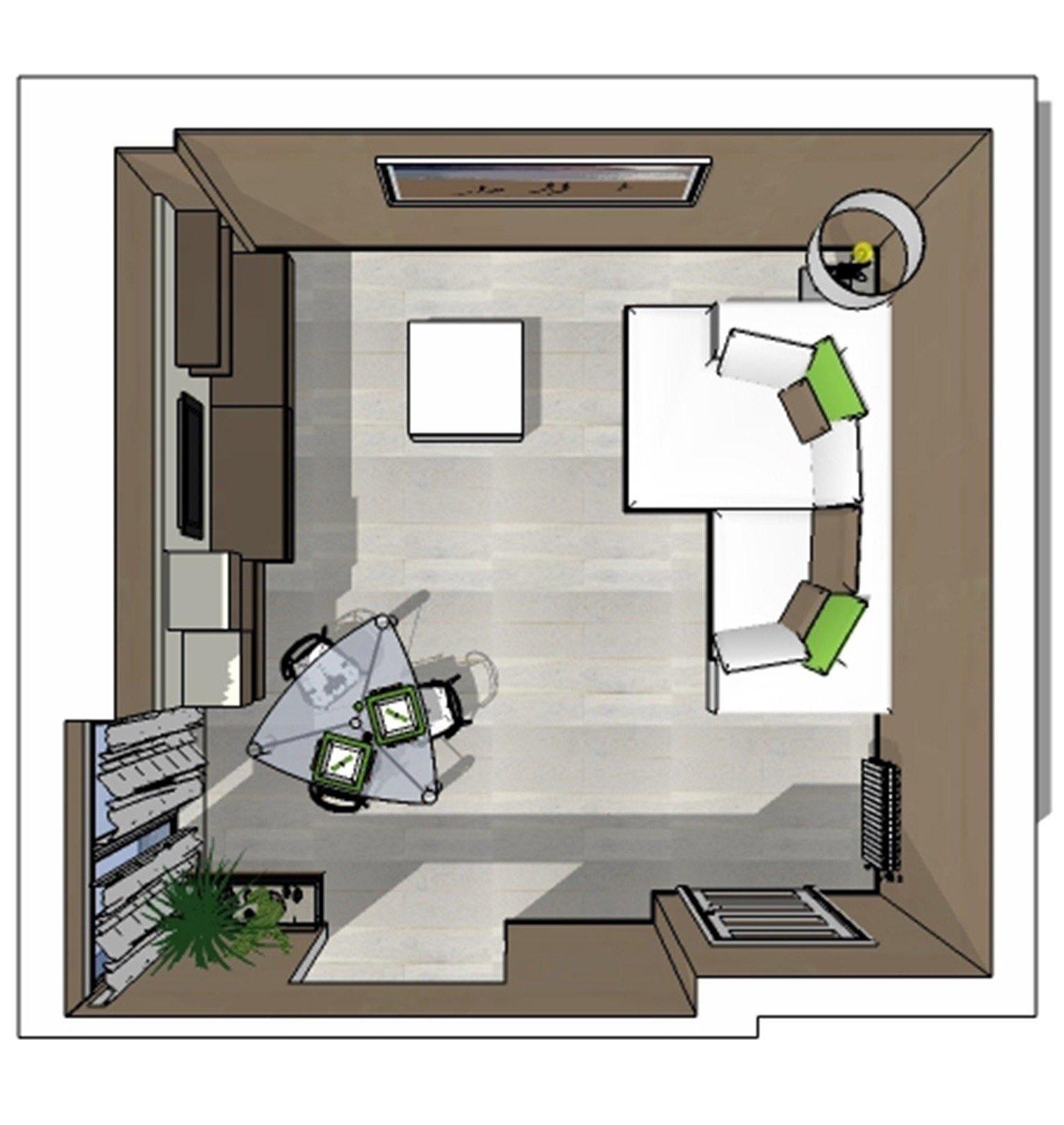 Un progetto per arredare il soggiorno conservando alcuni for Arredare piccolo soggiorno pranzo