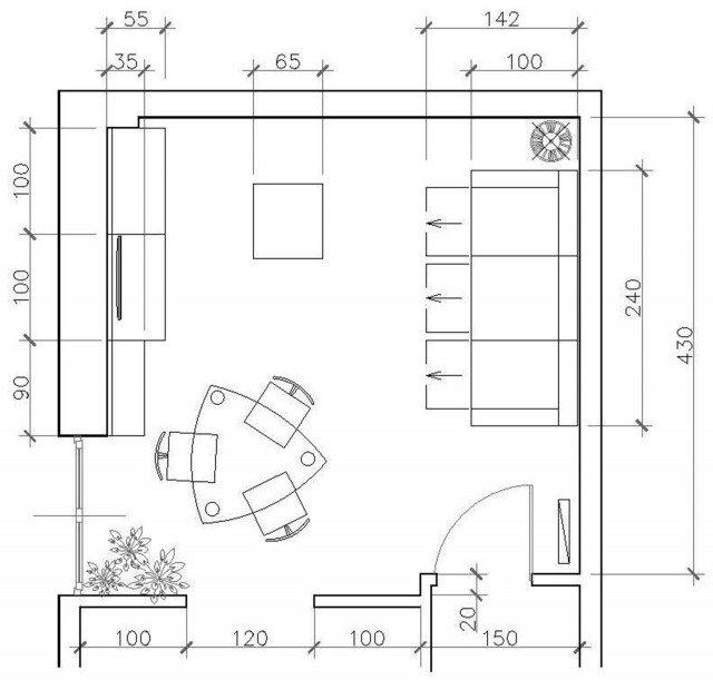 Un progetto per arredare il soggiorno conservando alcuni for Un insieme di mobili