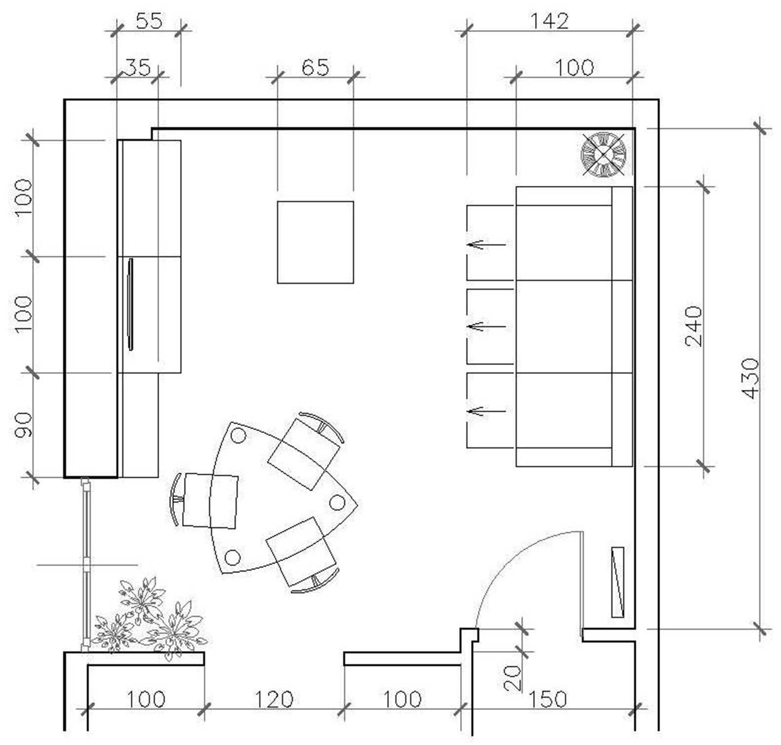 Disposizione soggiorno quadrato idee per il design della for Disposizione della casa libera