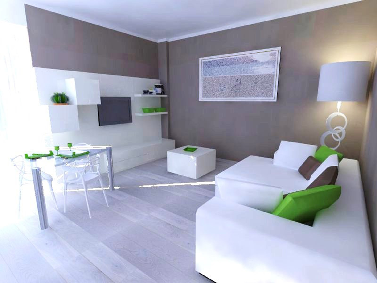 Un progetto per arredare il soggiorno conservando alcuni for Progetta mobili
