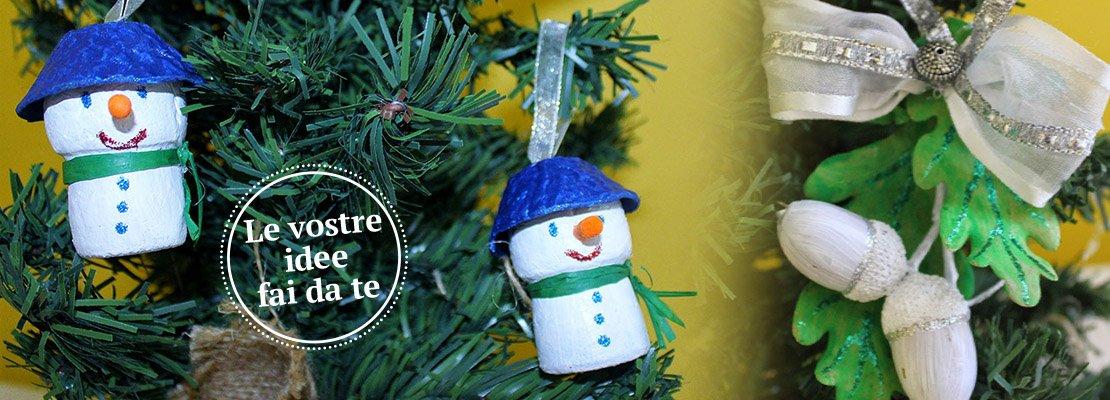 Decorazioni natalizie: mini addobbi fai da te per lalbero di Natale ...