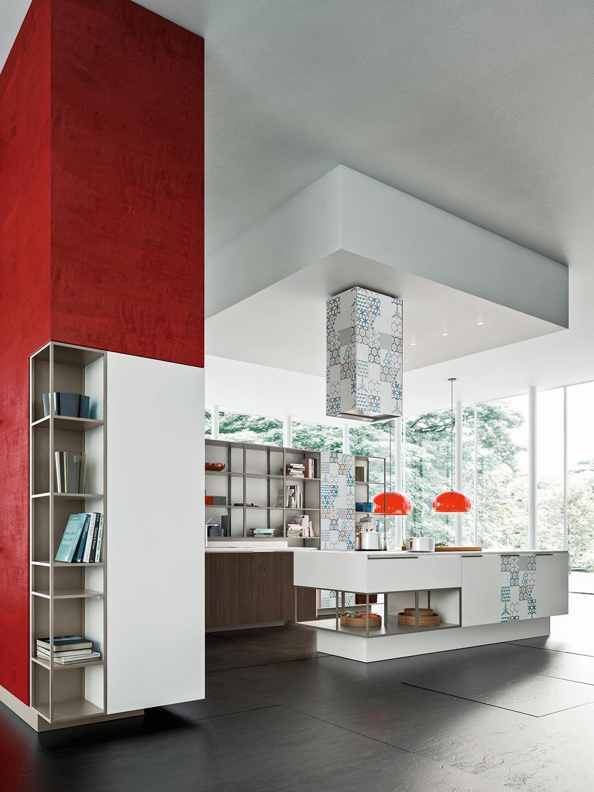 Superfici E Grafismi Cromatici Contempla Anche Una Soluzione A Isola  #791F1B 1200 1600 Immagini Cucine In Muratura Antiche