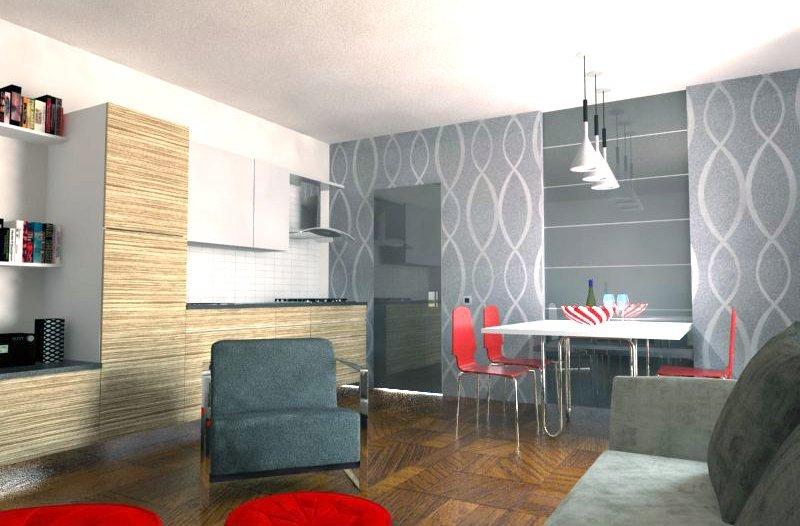Soggiorno e cucina insieme per aggiungere la seconda camera - Cose ...