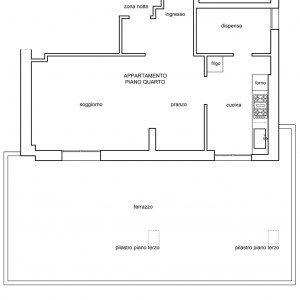 Spostare la cucina sul terrazzo sfruttando il piano casa for Disegnare la pianta del piano di casa
