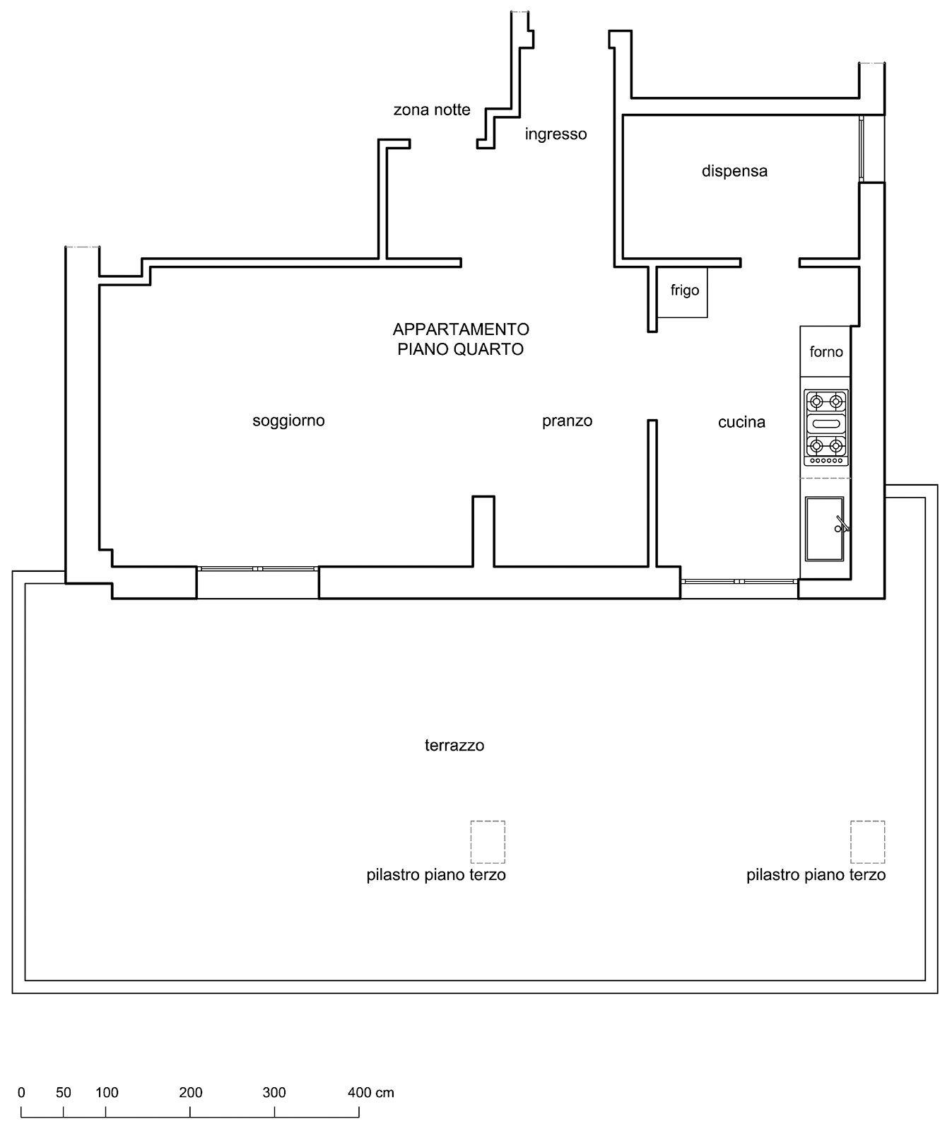 2architetto cucina terrazzo pianta cose di casa - Cucina sul terrazzo ...