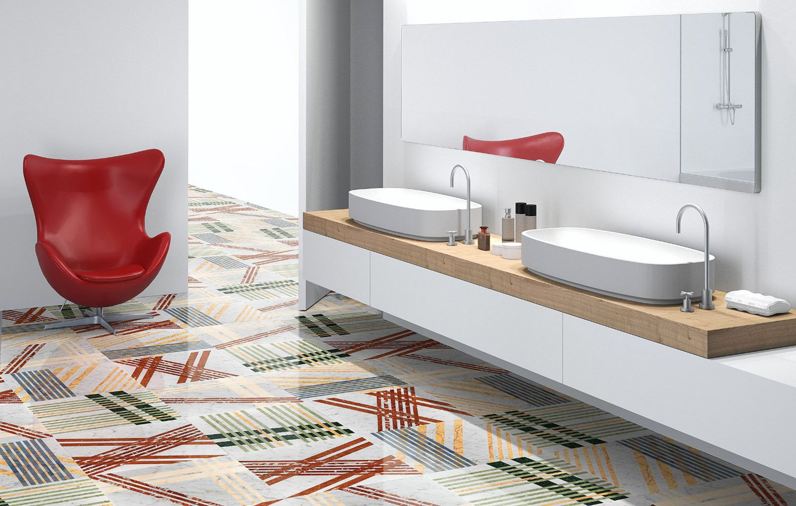 Pavimento Rosso E Bianco : Pavimenti in marmo travertino alla veneziana all insegna della