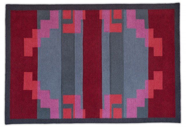 6 Calligaris - RARITAN_Red&grey lana
