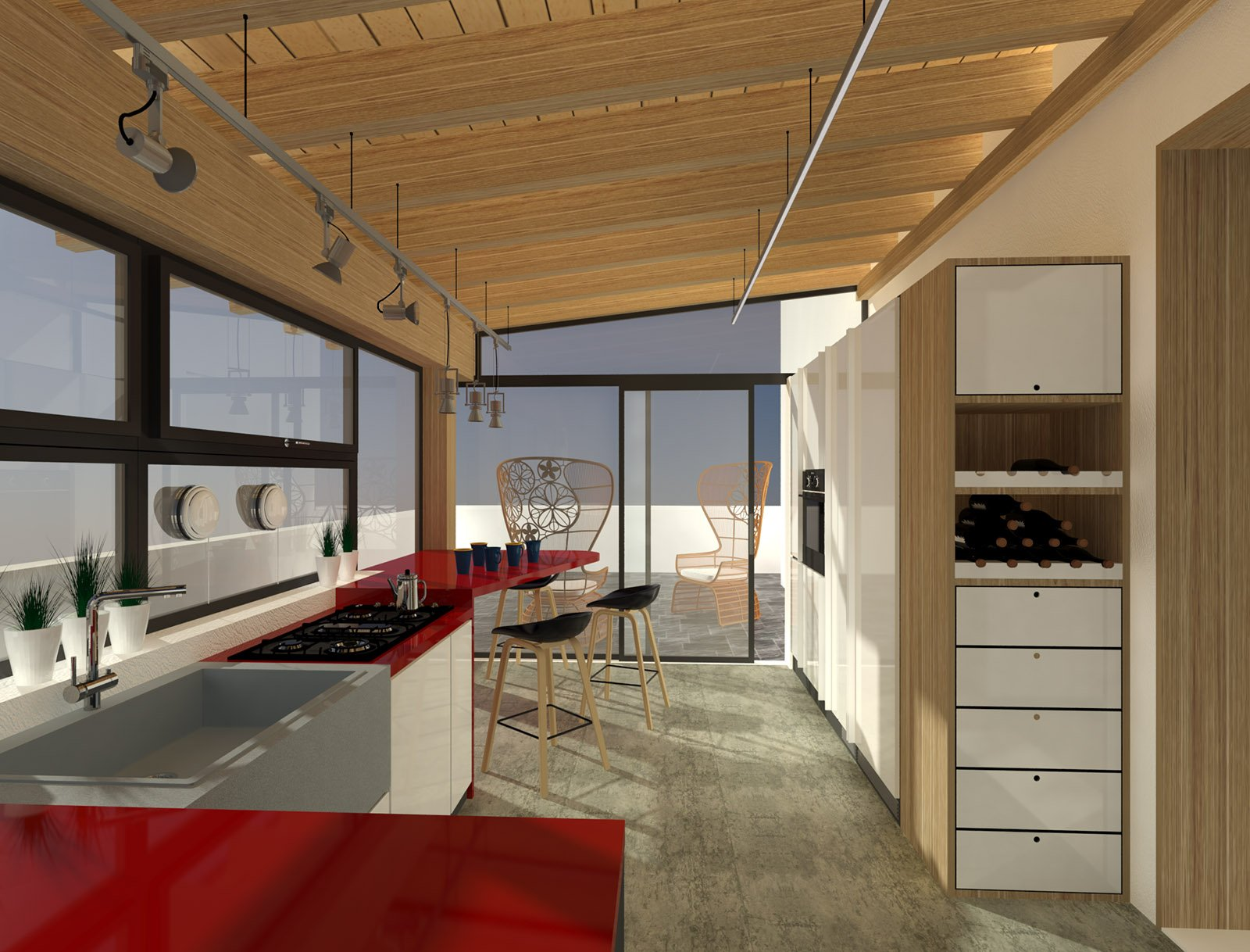 La Cucina Sul Terrazzo Sfruttando Il Piano Casa Cose Di Casa #692C1F 1600 1218 Foto Di Cucine In Pietra