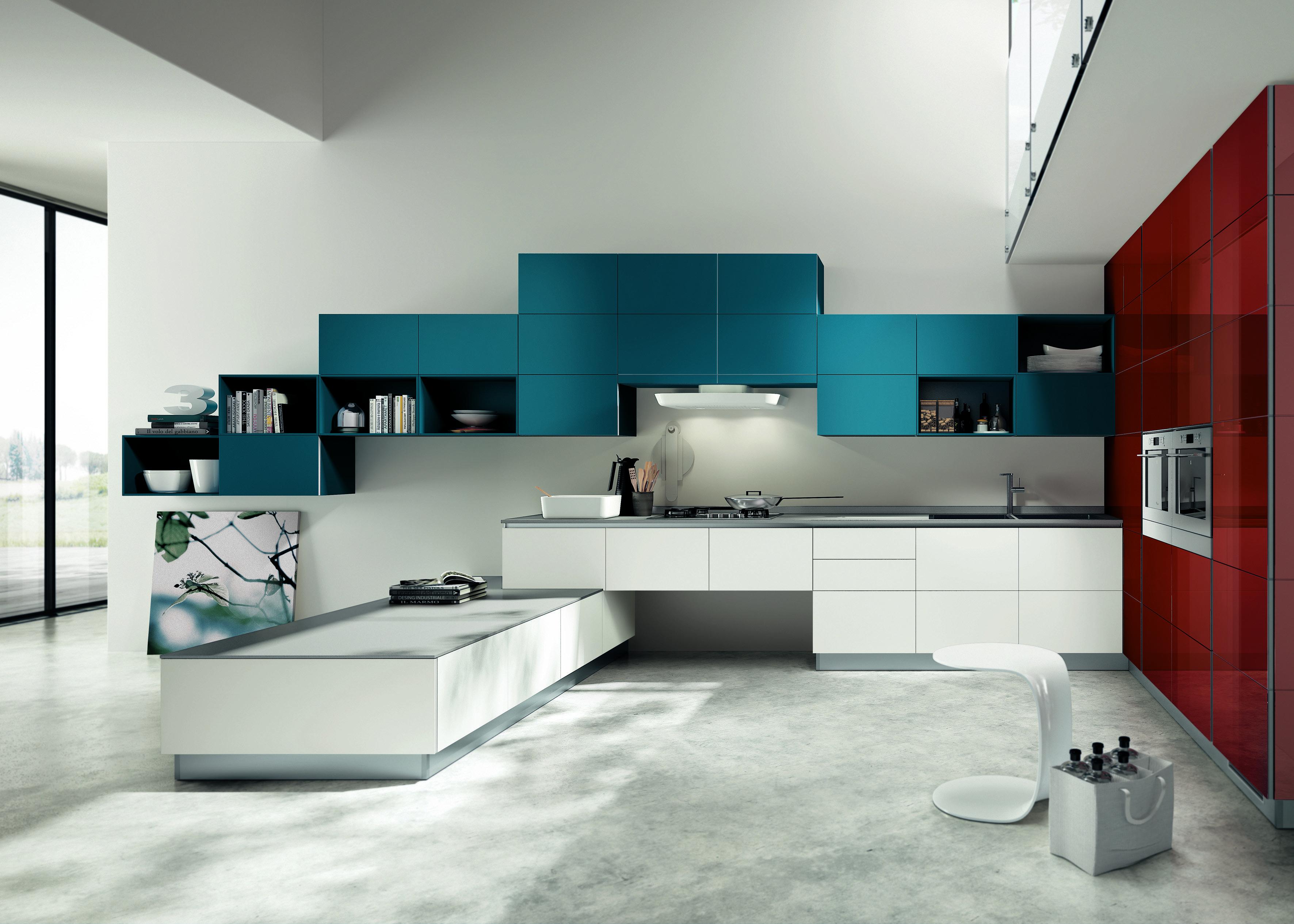 Cucina in bianco più colore: le nuove composizioni moderne - Cose ...