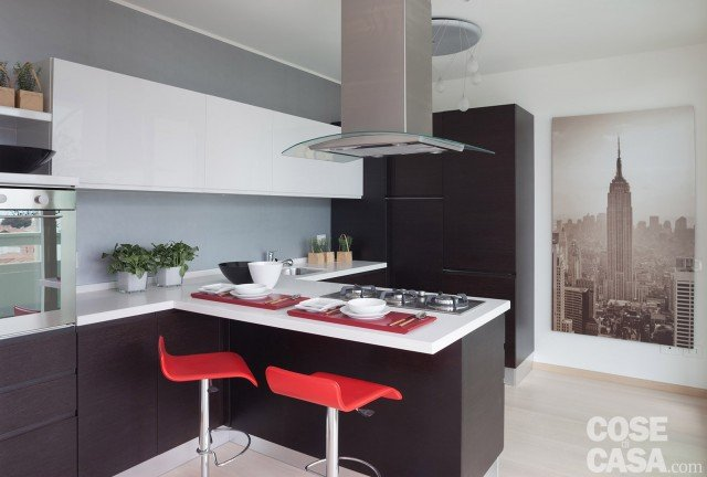 Awesome cucine moderne rosse pictures - Piastrelle cucina rosse ...
