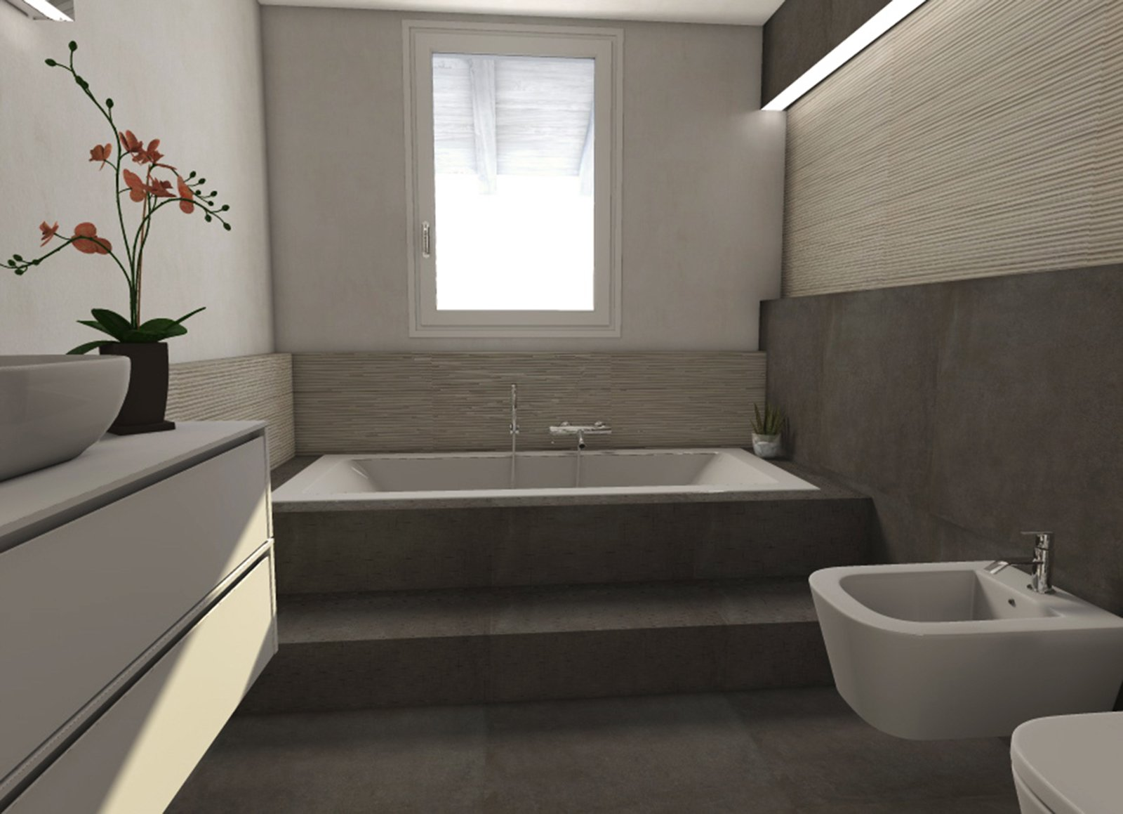 Una mansarda di nuova costruzione un progetto d 39 arredo for Nuova camera da letto dell inghilterra
