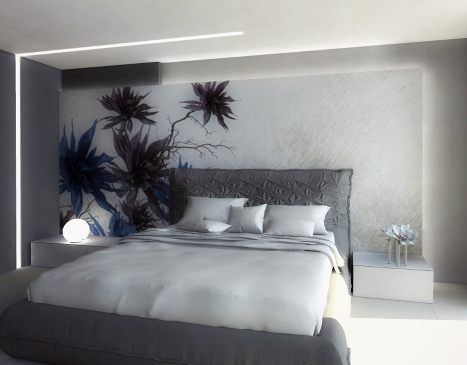 Una mansarda di nuova costruzione un progetto d 39 arredo for Camera da letto luci