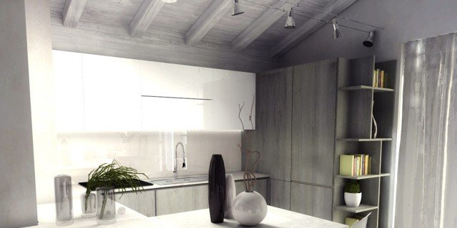 Top una mansarda di nuova costruzione un progetto duarredo per sfruttare bene lo spazio with - Cucine per mansarde basse ...