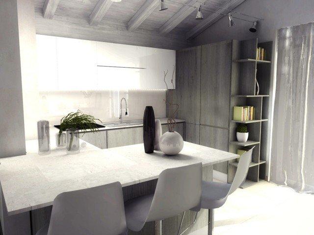 casa-mansarda-cucina