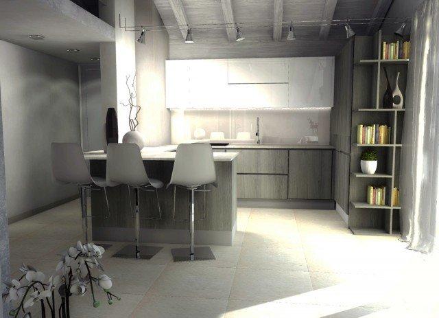 casa-mansarda-cucina-penisola