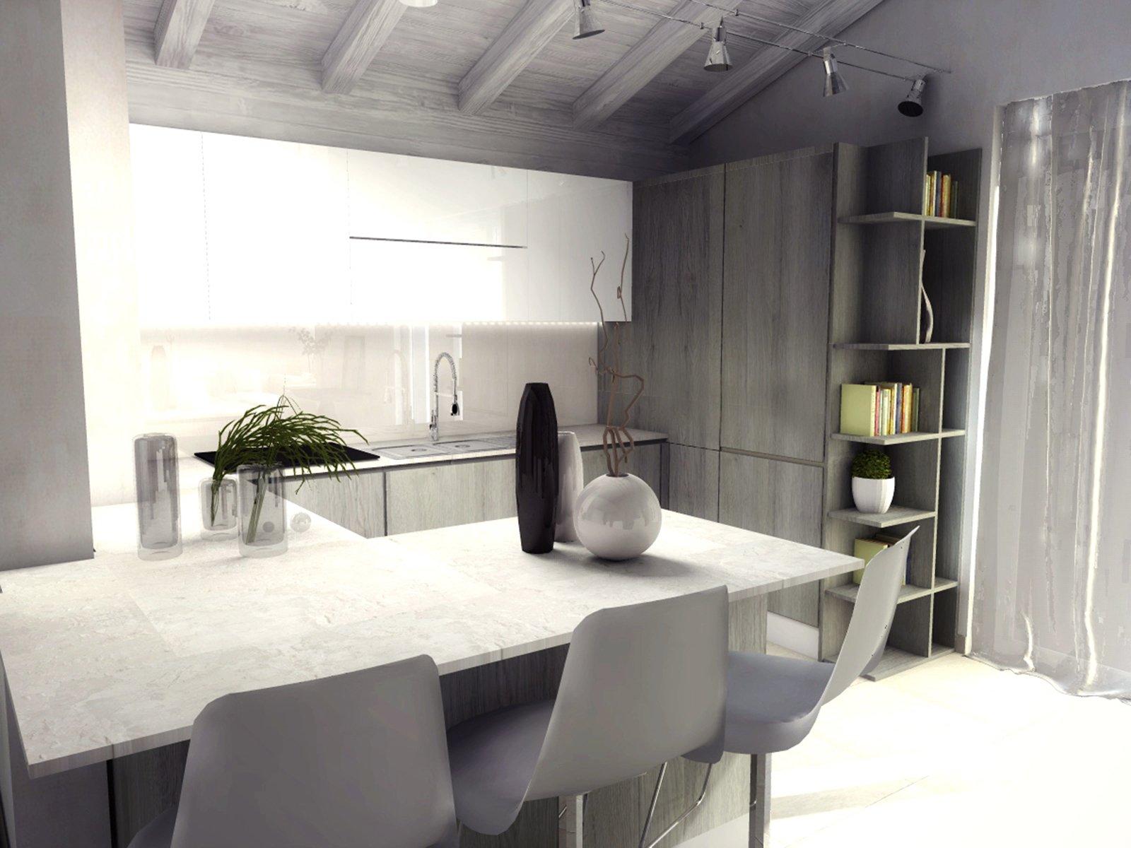 Una mansarda di nuova costruzione un progetto d 39 arredo - Cucine in mansarda ...