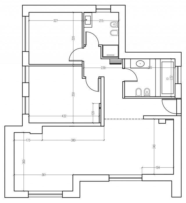 Una mansarda di nuova costruzione un progetto d 39 arredo - Bagno disabili dwg ...
