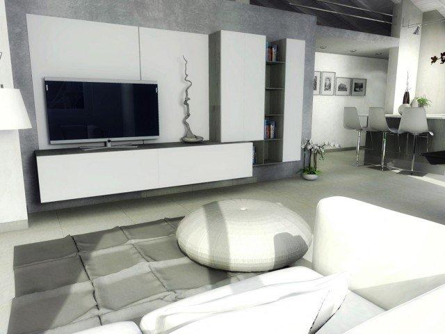 casa-mansarda-soggiorno-tv