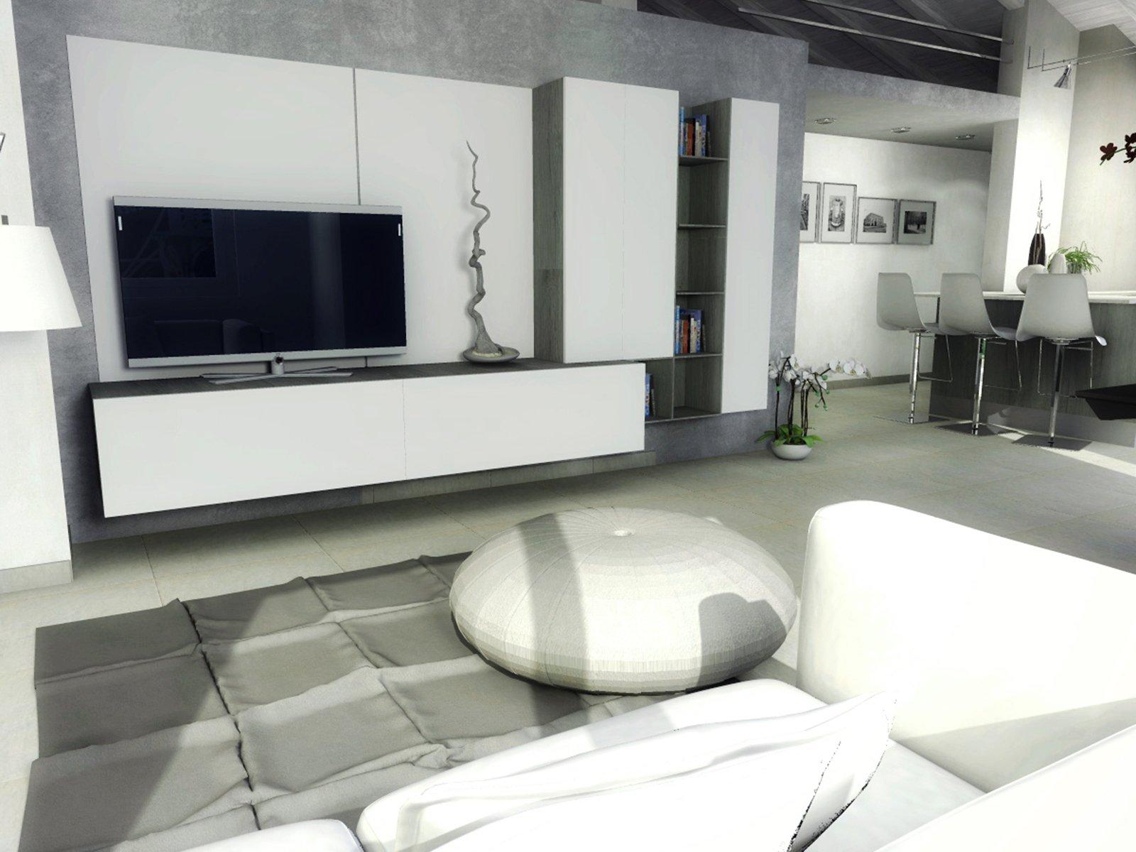 casa-mansarda-soggiorno-tv - Cose di Casa