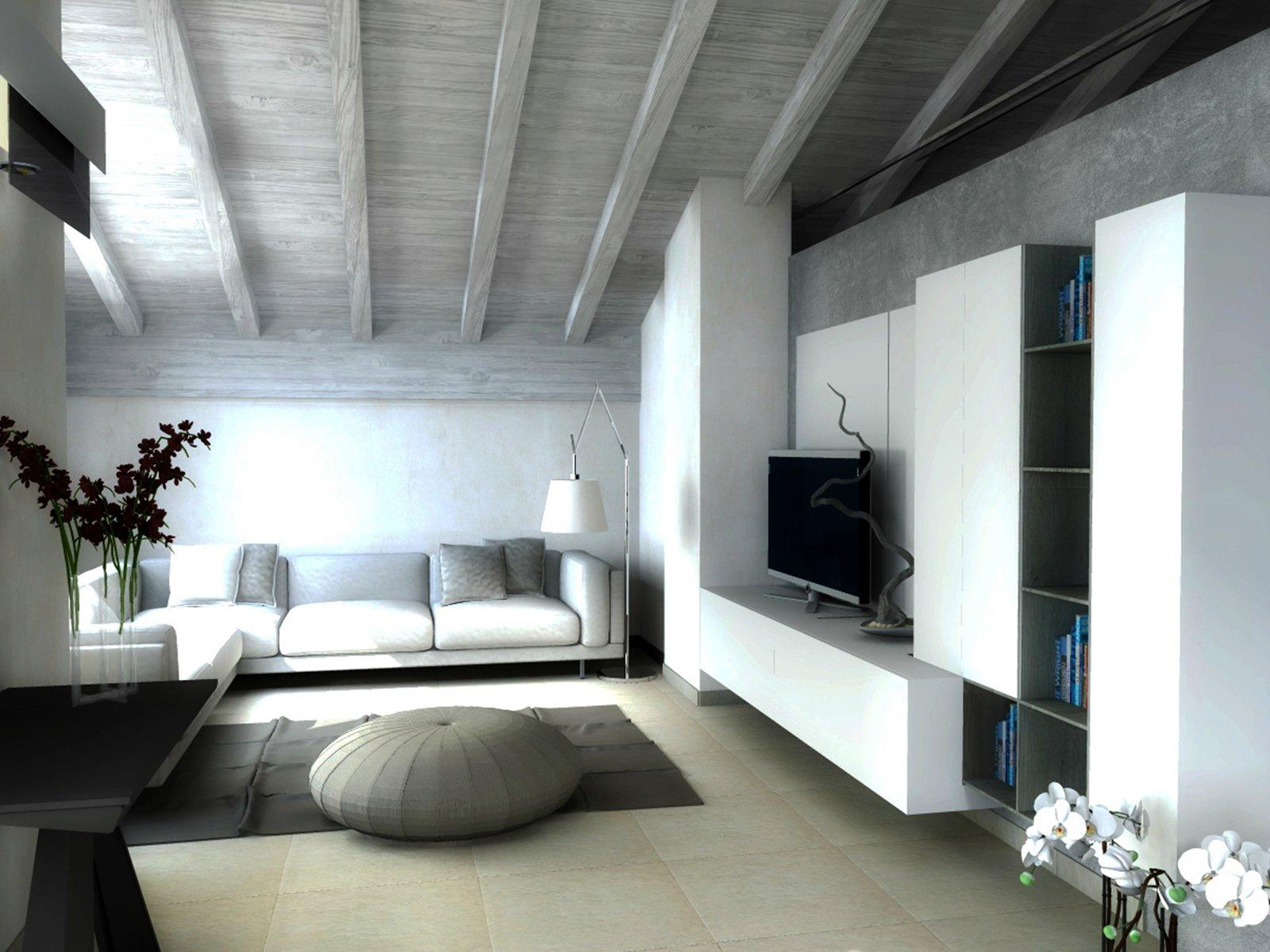 Una mansarda di nuova costruzione un progetto d 39 arredo for Arredamento per sottotetto