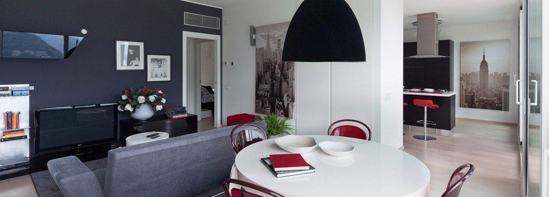 In meno di 100 mq una casa moderna con geometrie a 3 for Casa moderna 80 mq