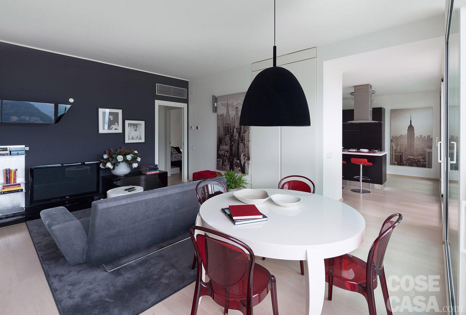 In meno di 100 mq una casa moderna con geometrie a 3 for Ambientes de una casa moderna