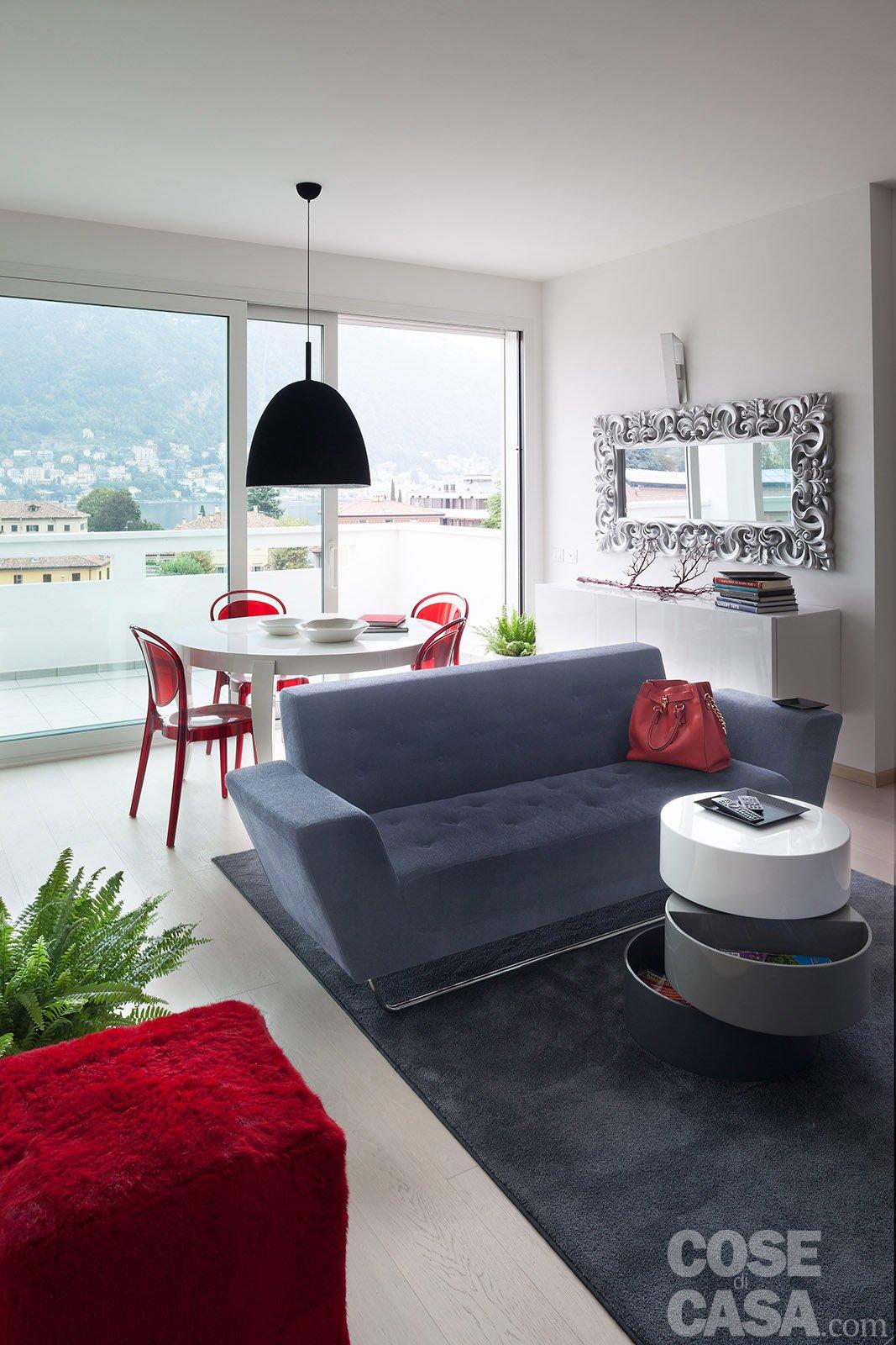 In meno di 100 mq una casa moderna con geometrie a 3 for Casa del divano