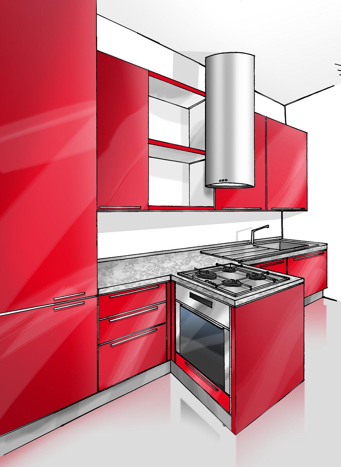 Cucina concentrata in 3 metri cose di casa - Cucina 3 metri angolare ...
