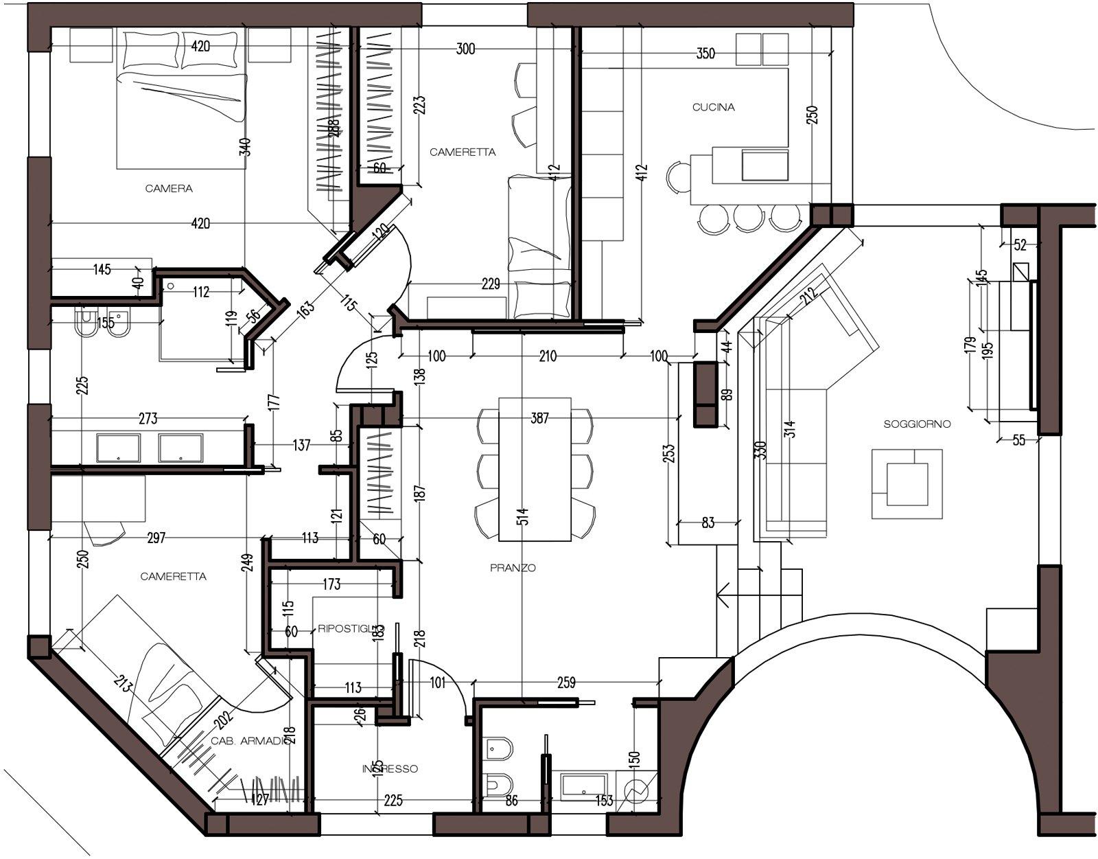 Pianta mansarda con dislivello cose di casa for Progetti case moderne interni