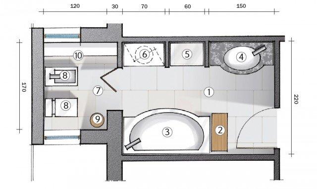 Da corridoio a bagno: progetto in pianta - Cose di Casa