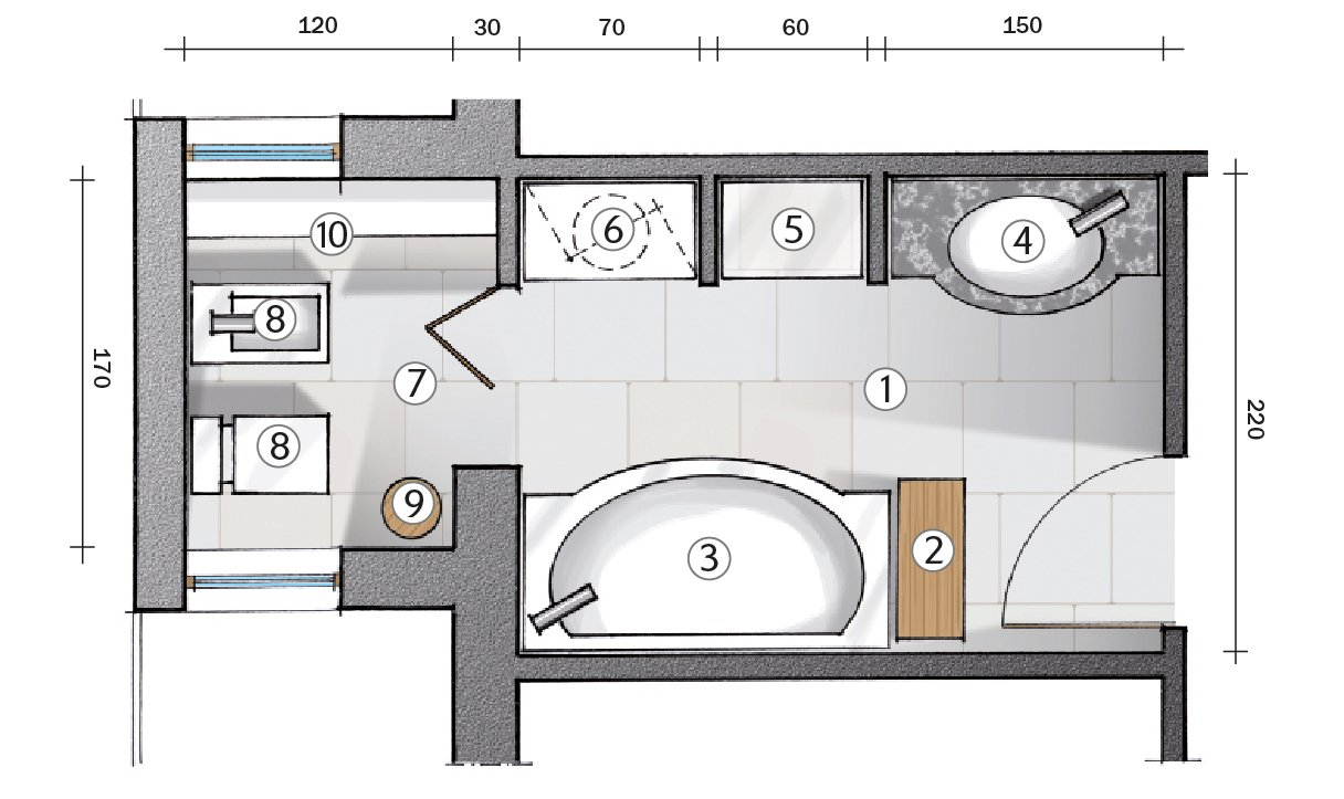 Da corridoio a bagno progetto in pianta cose di casa - Tavola valdese progetti approvati 2015 ...