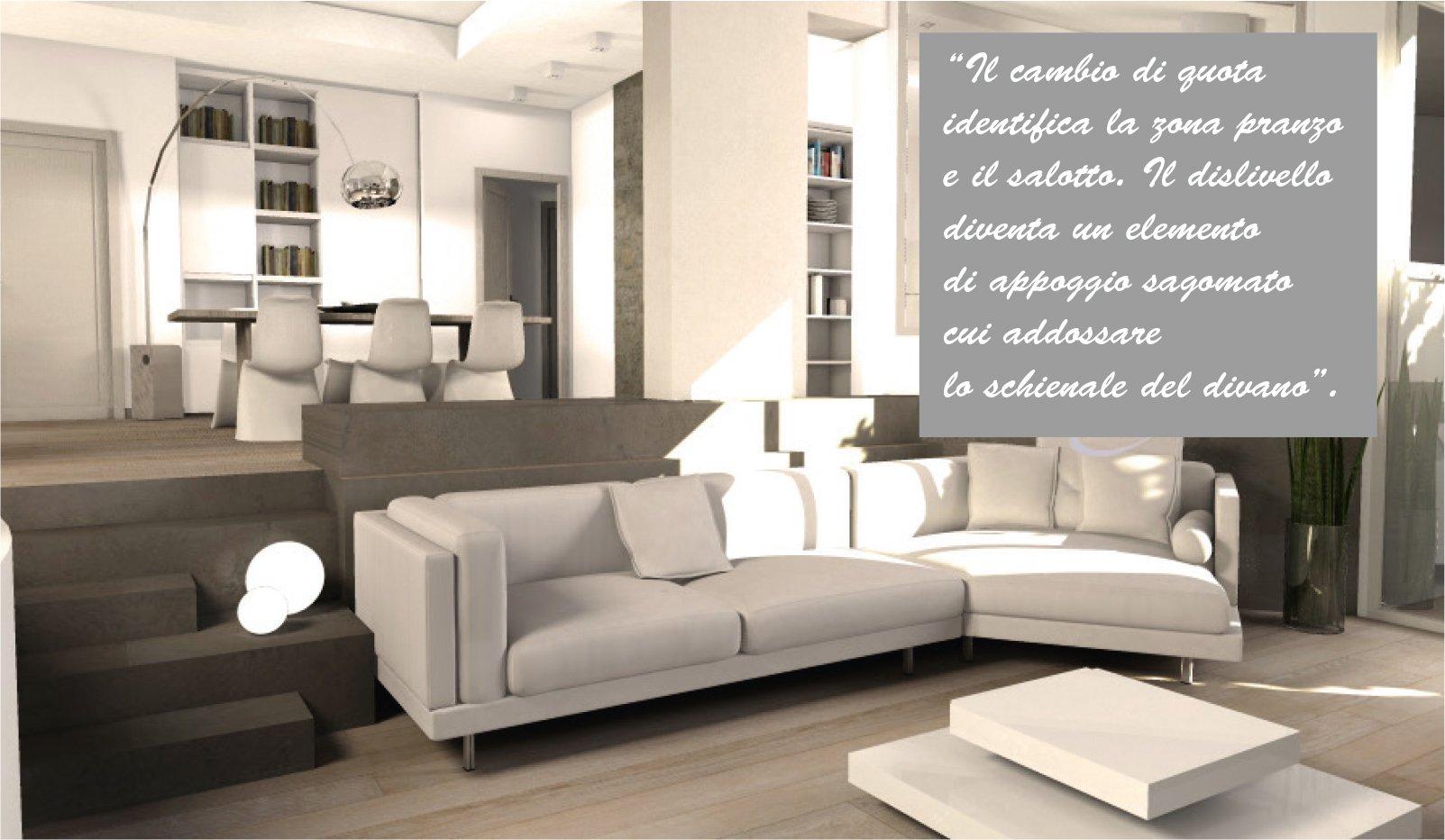 Una mansarda con dislivello progetto in 3d e foto della for Immagini di casa