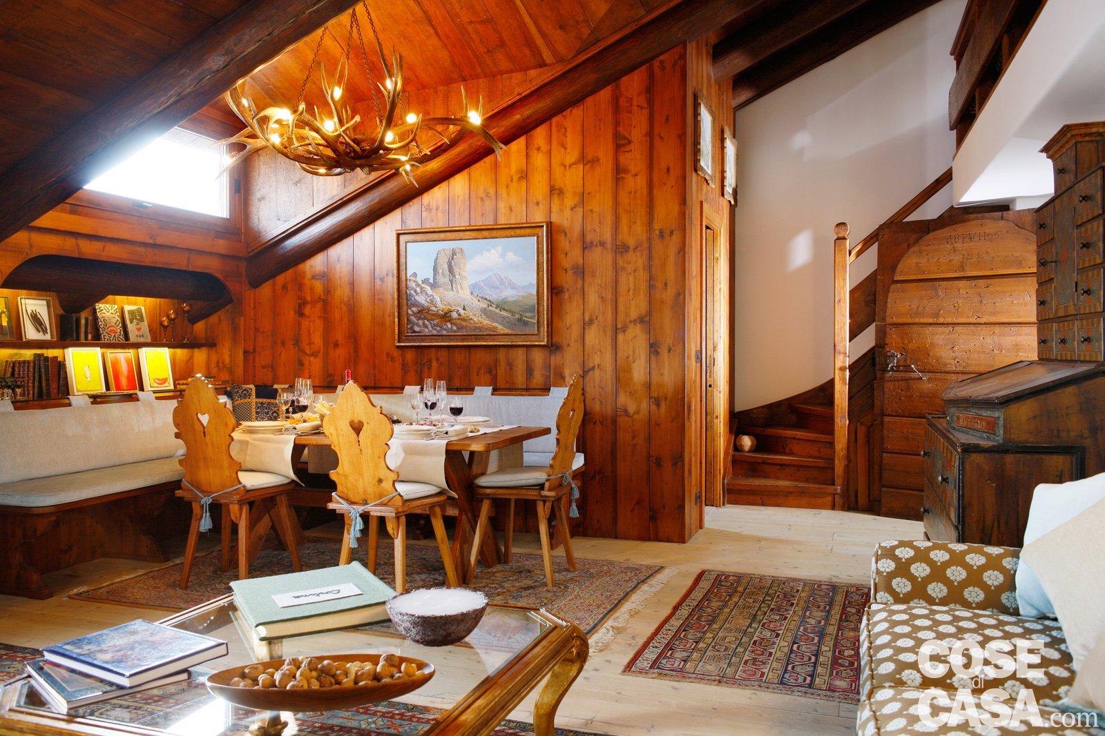 Mansarda tutta legno nuova vita per la casa di montagna - Cucina piu soggiorno ...