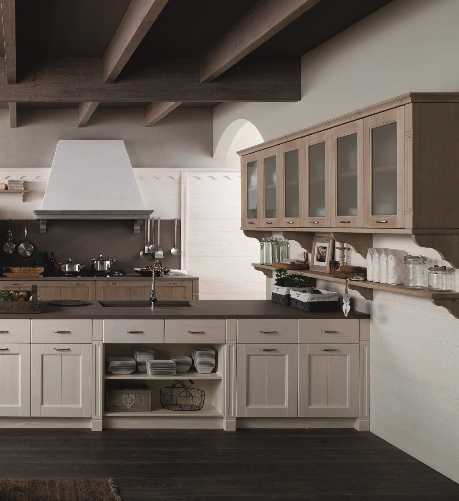 Pensili cucina pensile cucina xxh in legno with pensili - Pensili per cucina ...