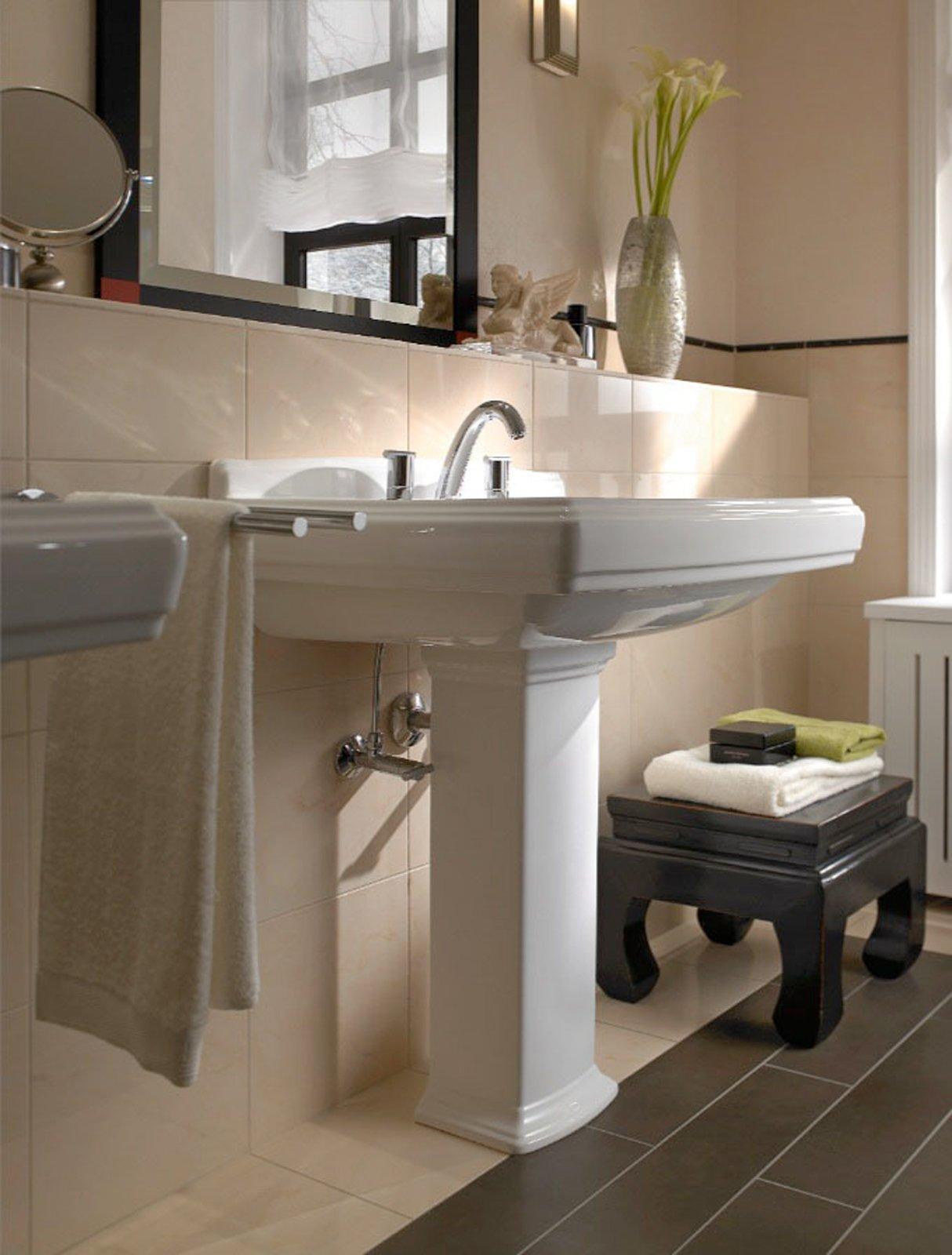 Lavabi classici lo stile anche in bagno cose di casa - Lavabo angolare bagno ...