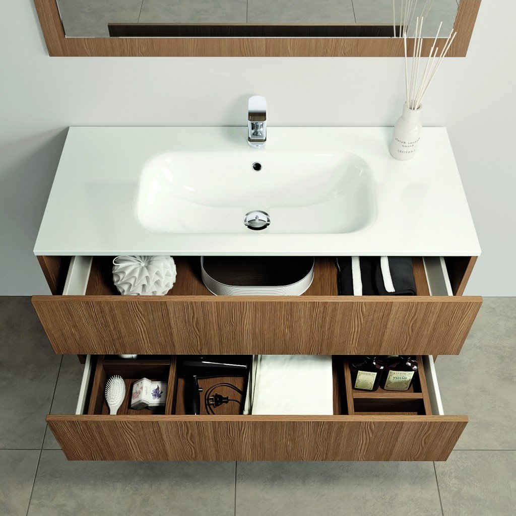 Mobili bagno con cassetti. Tutto in ordine sotto il lavabo - Cose di ...