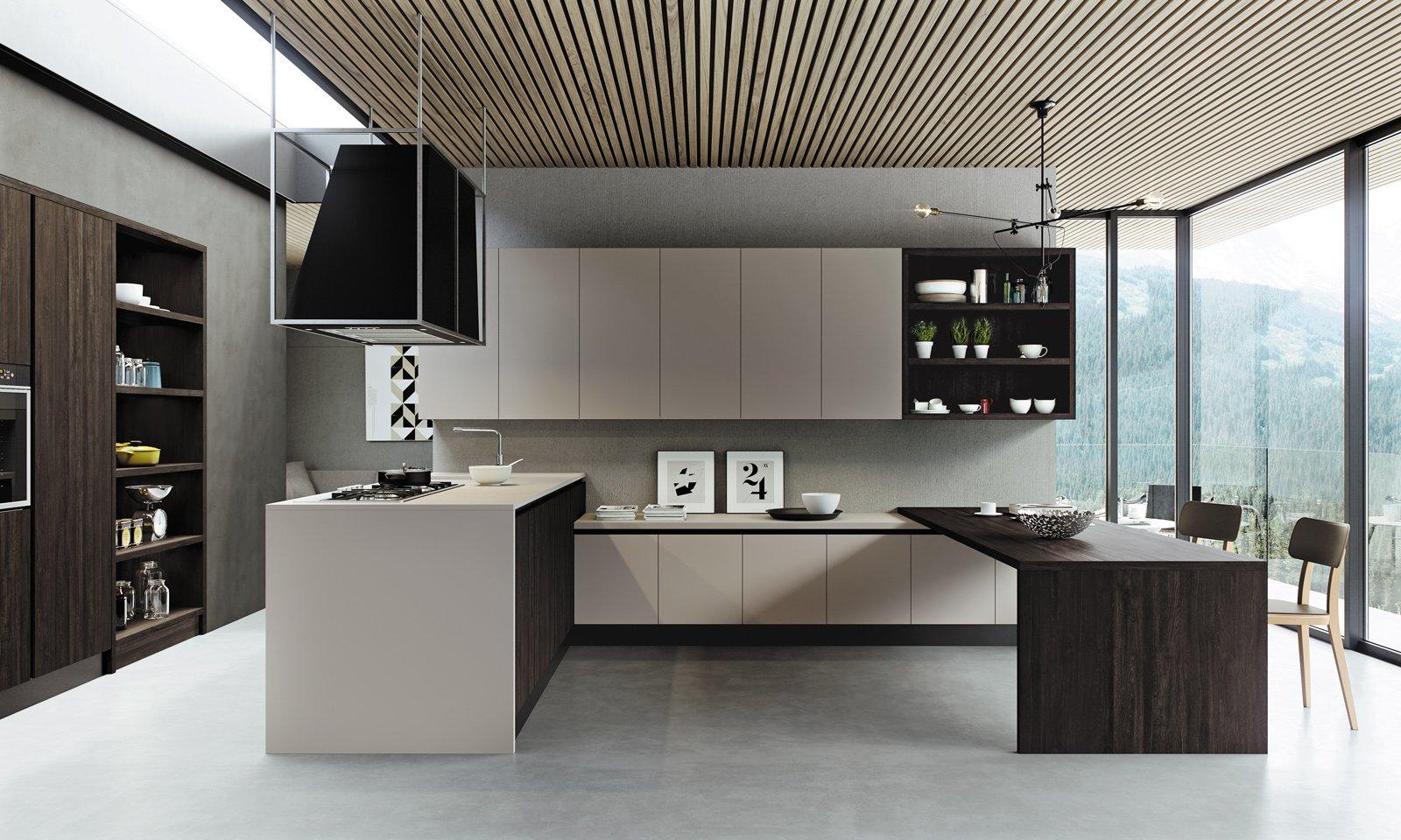 Cucina contenere di pi con tanti pensili o pensili grandi cose di casa - Maniglie per pensili cucina ...