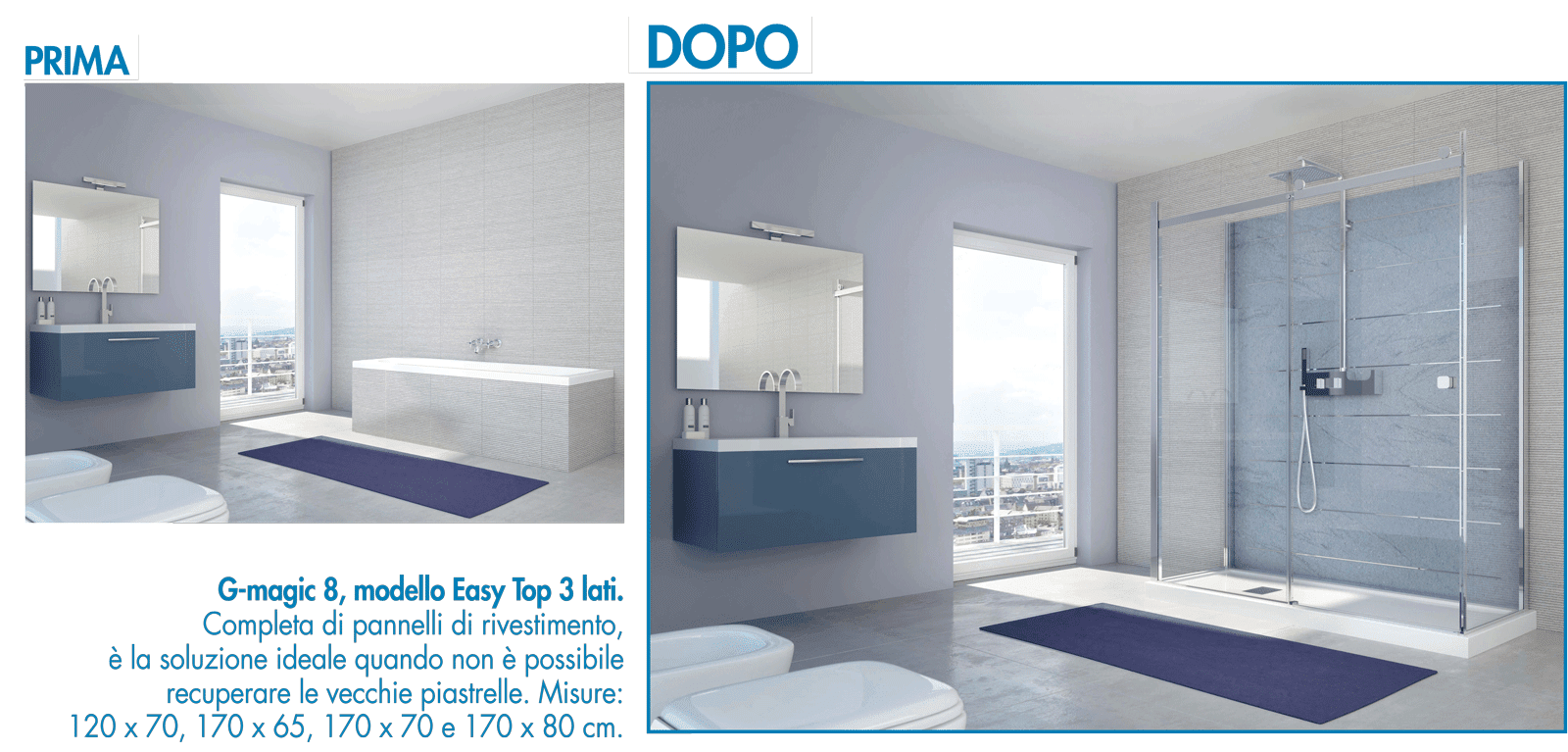 Vasche Da Bagno Con Box Doccia: Box doccia x cabina idromassaggio ...