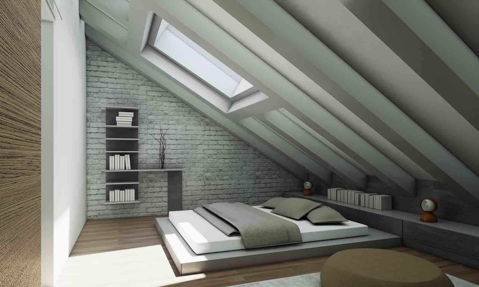 Nel sottotetto zona giorno e zona notte raddoppiano cose di casa - Camera da letto sottotetto ...