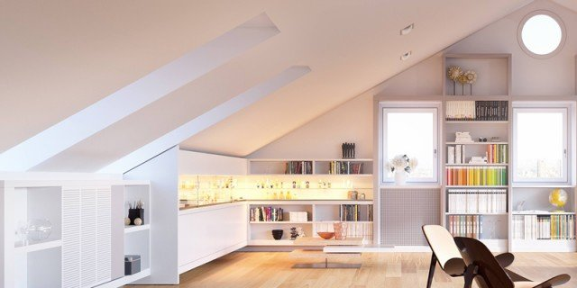 Sottotetto dopo la ristrutturazione l 39 arredo giusto cose di casa - Costo ristrutturazione casa milano ...