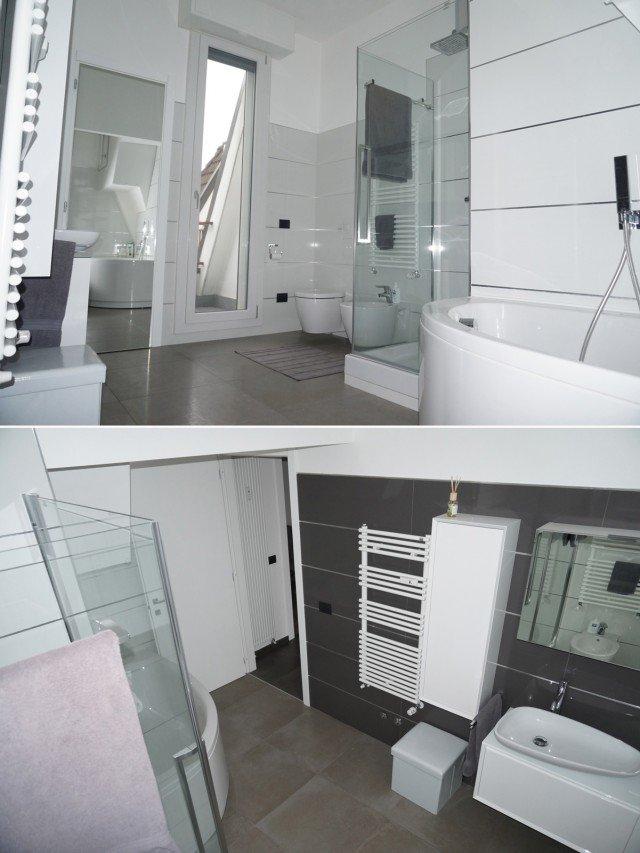120 mq una casa riportata a nuova vita cose di casa - Piastrelle bagno grande formato ...