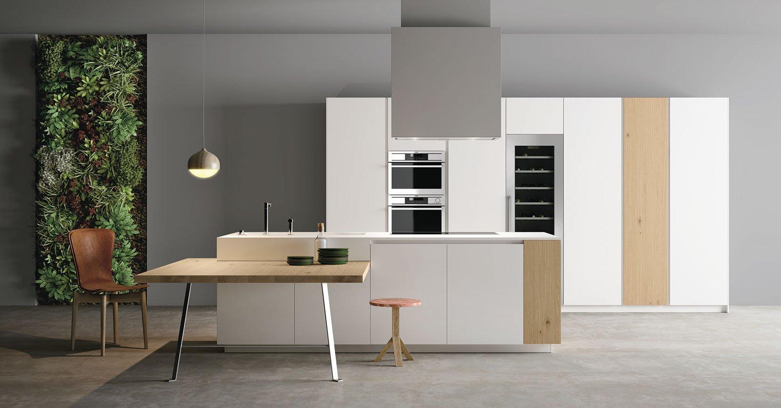 Cucine a isola un blocco centrale che coniuga estetica e - Isola cucina con tavolo ...