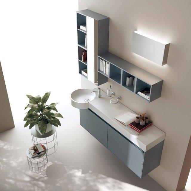 Mobili bagno con ante cose di casa - Mobili bagno blu ...