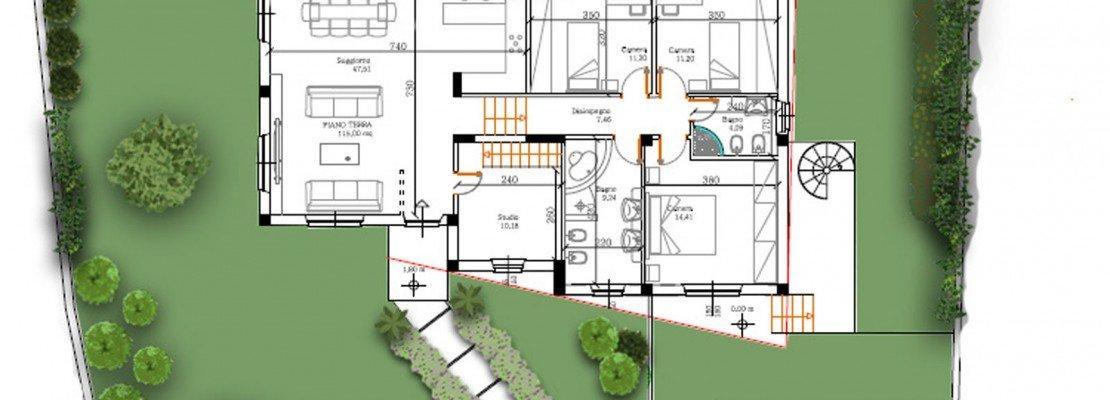 Un progetto per il giardino della villetta cose di casa - Progetto per giardino ...