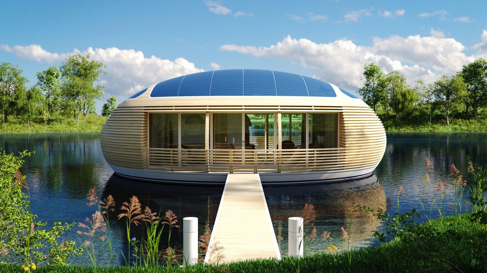 Una casa ecologica sospesa sull acqua cose di casa - Casa ecologica autosufficiente ...