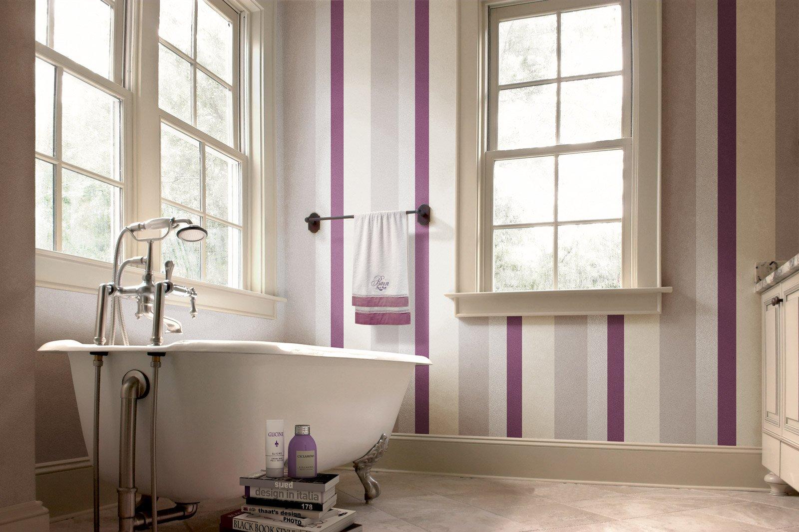 In bagno d cor a parete senza le piastrelle e contenendo - Colori piastrelle bagno ...