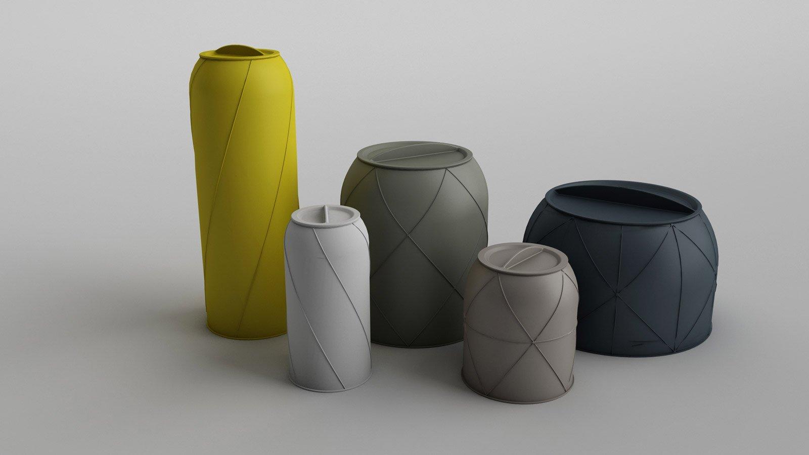 Canisters di Bitossi Ceramiche sono grandi vasi contenitore in ceramica bianca con colori matt e sono dotati di un coperchio; sono ottenuti per mezzo di una lavorazione a colaggio e di stampi in gesso che rendono la superficie piacevolmente grezza. www.bitossiceramiche.it