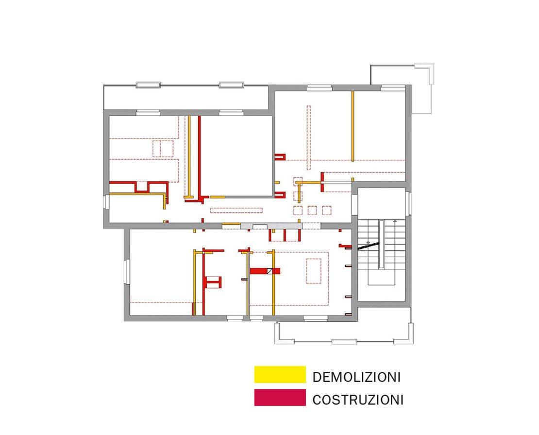 Due appartamenti diventano uno cose di casa - Disegnare piantina casa ...