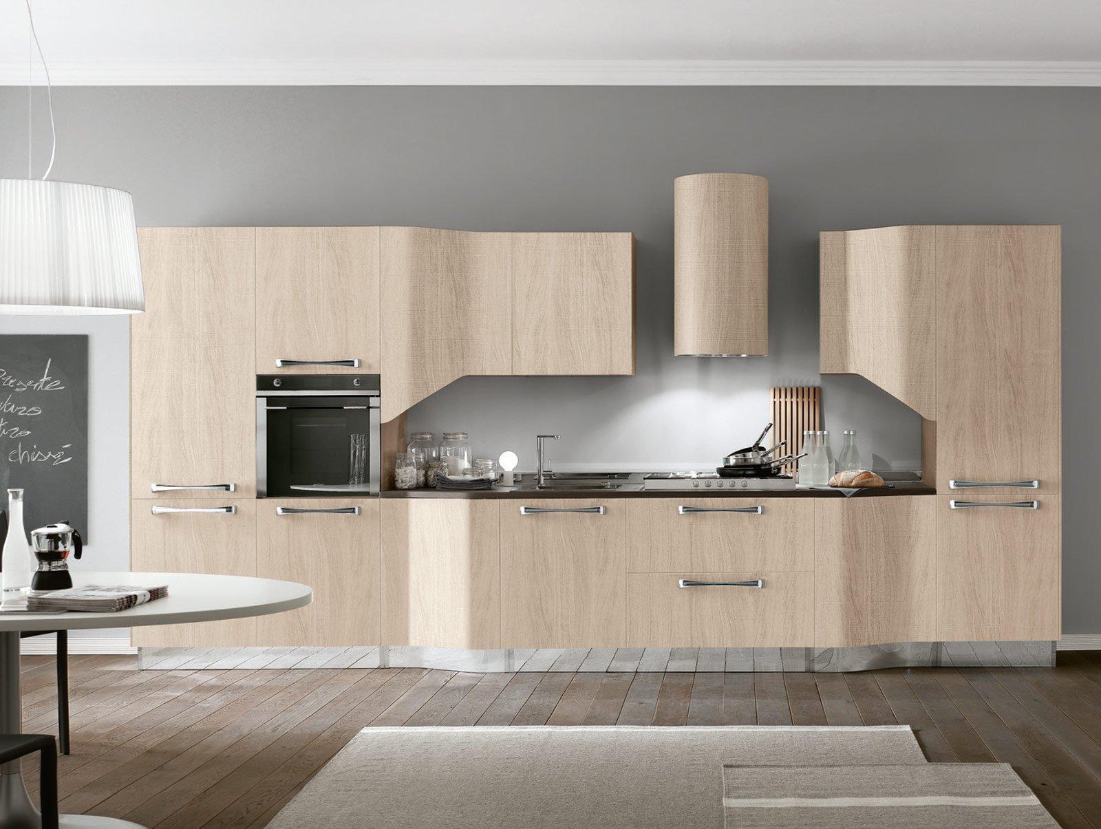 Cucine effetto legno per un ambiente caldo ed elegante - Cucina laminato effetto legno ...